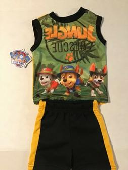 Toddler Baby Boys Paw Patrol Jungle Rescue 2 Piece Outfit Ne