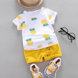 Toddler Baby Kids Boys Clothes Outfits Sets Infant Boy Summe