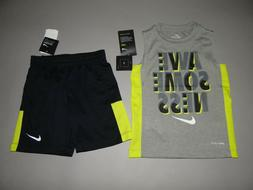 Toddler boy clothes, 4T/4 Nike Logo 2 piece DRI-FIT set/ SEE