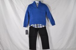Toddler Boy's Nautica 3 Piece Set with Woven Shirt, Sweater