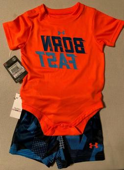 Under Armour Toddler Boys Athletic Outfit 2 Pc 9/12mths Navy