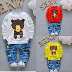 Toddler Boys Clothing Sets Baby Cotton Infant Tracksuits Kid