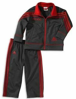 Adidas Toddler Boys' Impact Tricot Set Gray/Red 18 m new