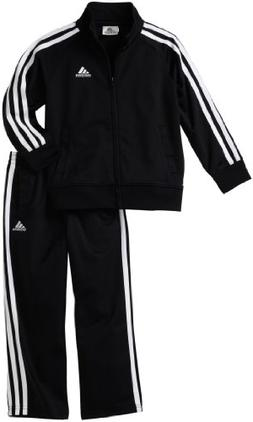 adidas Toddler Boys' Iconic Tricot Jacket and Pant Set, Blac