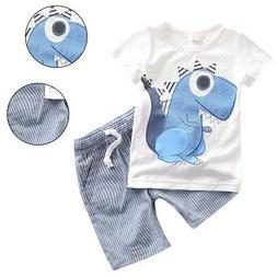 Toddler Kids Baby Boy Dinosaur Clothes Boys Outfits Sets Sho
