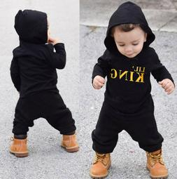 Toddler Kids Baby Boy Letter Hoodie T Shirt Tops+Camo Pants