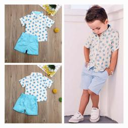 Toddler Kids Baby Boys Clothes Clothing Suits Outfits Short