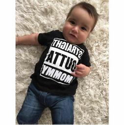 Toddler Kids Child Baby Boy Girl Casual Short Sleeve Tops T-