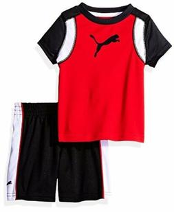 PUMA  Childrens Apparel 21175097 Baby Two Piece Short and Te