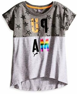PUMA  Childrens Apparel Big Girls Active Graphic Tee Shirt-