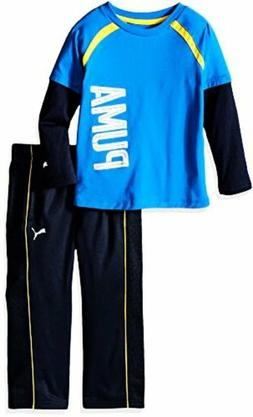 PUMA  Childrens Apparel Little Boys Toddler 2 Piece Long Sle