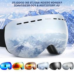 Unisex Ski Goggles Double Anti Fog Lenses UV400 Protection F