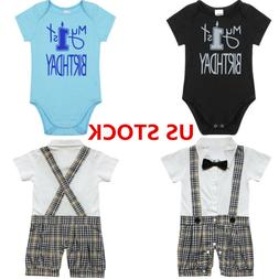 US Toddler Baby Boys Clothes Outfit Party Gentleman Bowtie B