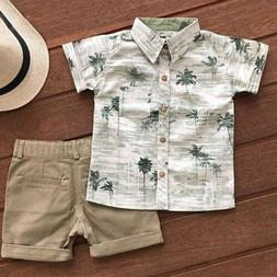 US Casual Toddler Kids Baby Boy Clothes Outfits Sets Short S