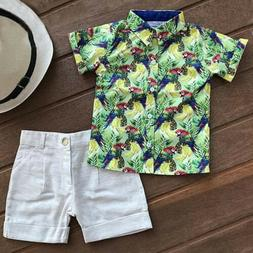 US Toddler Kids Baby Boys Casual Tee Clothes Outfits T Shirt