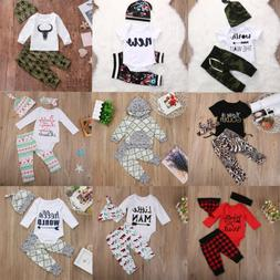 usa 3pcs newborn baby boys girls clothes