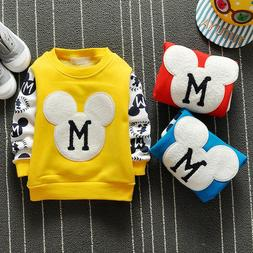DIIMUU Winter Baby Boys Clothes Clothing T-shirt Kids Boy T-