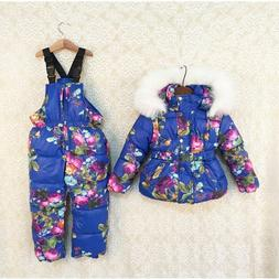 Winter Clothes Ski Set For Kids Outdoor Hooded Jacket And Th