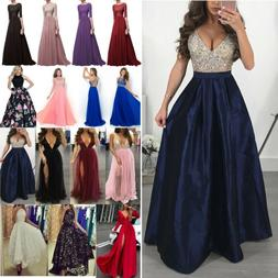 Women Bridesmaid Wedding Long Dress Evening Cocktail Party B