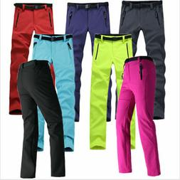 Women Outdoor Hiking Ski Pants Warm Fleece Padded Windproof