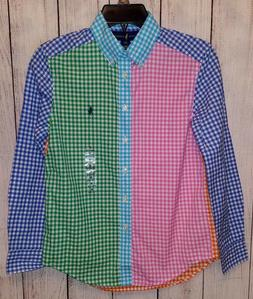 Youth Boys Ralph Lauren Multicolor Checkered Shirt Top Size