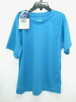 Youth Boys Kanu Surf Solid Swim Shirt Rash Guard Aqua Size 8